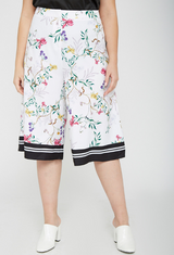 UNIQUE21 HERO Floral Culottes With Contrast Hem