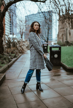 GREY CHECK CROMBIE COAT