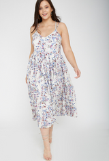 UNIQUE21 HERO Floral Pleated Strappy Sun Dress
