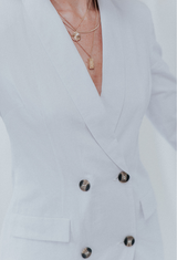 Robyn Natural Cotton Blazer Dress