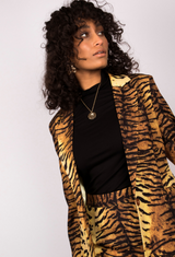 Tiger Print Tailored Blazer