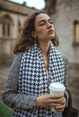 Houndstooth Oversized Scarf