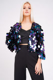 Large Sequin Cropped Jacket