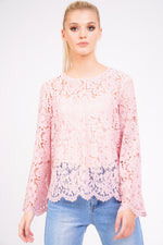 Pink Lace Top