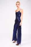Sequin Jumpsuit in Midnight Blue