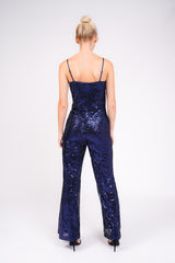 Sequin Sparkly Blue Jumpsuit
