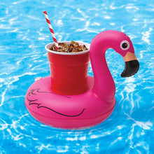 Load image into Gallery viewer, Inflatable Flamingo Drink / Cell Phone Holder