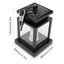 Load image into Gallery viewer, Waterproof LED Solar Garden Light Outdoor Flickering Flameless Candle Hanging Lantern Smokeless