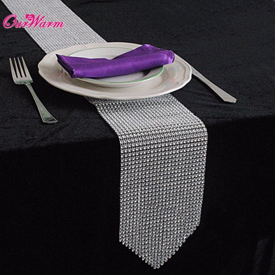 Luxury Table Runners – Sparkly Diamond Mesh Crystal Rhinestone