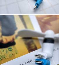 Load image into Gallery viewer, SIANCS Cute Type-c Micro USB 8 Pin Flexible Mini Fans