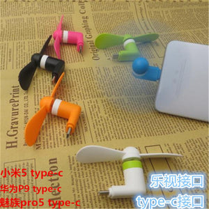 SIANCS Cute Type-c Micro USB 8 Pin Flexible Mini Fans