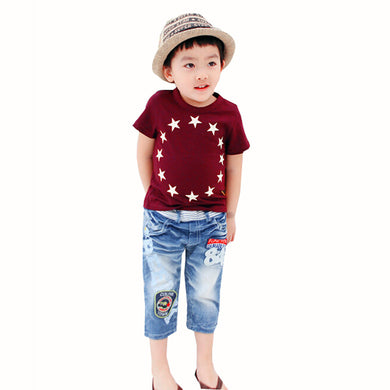 Summer Child's Short Sleeve shirts Stars – Cotton Casual Tops Baby, Toddler