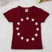 Load image into Gallery viewer, Summer Child's Short Sleeve shirts Stars – Cotton Casual Tops Baby, Toddler
