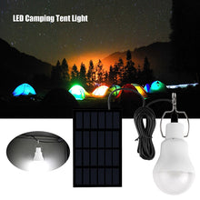 Load image into Gallery viewer, Konesky Portable Lantern Solar LED Bulb Lamp Solar Panel Lamp