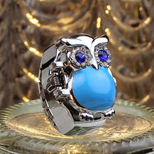 Load image into Gallery viewer, New Hot Creative Fashion Retro Owl Finger Watch Clamshell Ring Watch