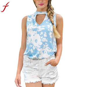Summer Crop Top New Womens Ladies Sleeveless V Neck