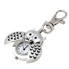 Load image into Gallery viewer, New Mini Metal Key Ring owl double open Quartz Watch