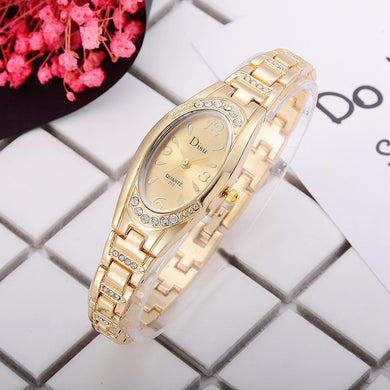 Women's Rose-Gold Plated Elegant Rhinestone Bracelet Fashion Watches
