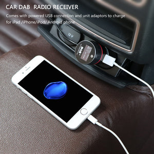 Universal Car DAB Radio Receiver Tuner with FM Transmitter