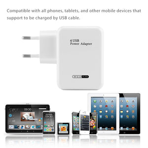Powstro 4 Ports Multiple Wall USB Smart Charger