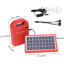 Load image into Gallery viewer, Portable #SOLAR #PANEL POWER #Generator with USB Cables,  LED Lighting System