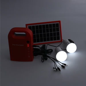 Portable #SOLAR #PANEL POWER #Generator with USB Cables,  LED Lighting System