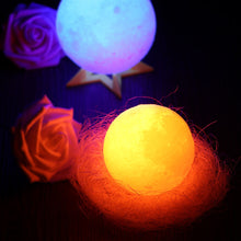 Load image into Gallery viewer, Moon Lamp: 3D RGB LED, Night & Desk Lamp USB Rechargeable