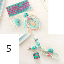 Load image into Gallery viewer, Hello Kitty-Like Cartoon Spiral Phone USB Data Sync, Charging Cable Wrap Protector Winder