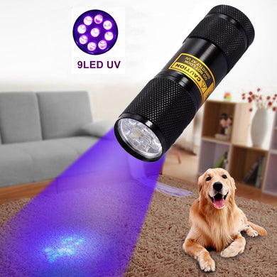 Waterproof Invisible Blacklight Detection Ultraviolet Flashlight