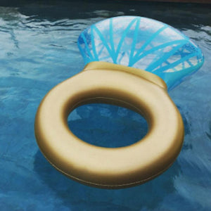 Giant Inflatable Engagement Ring Float/Water Raft