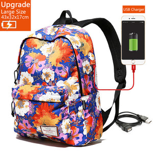Large Capacity for 15.6 Inch Laptop Backpack + USB Charger – Waterproof