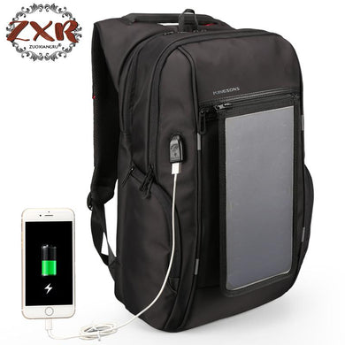 Mini 15.6 Inch SOLAR Charging, Anti Theft Backpack with USB Charging Capabilities