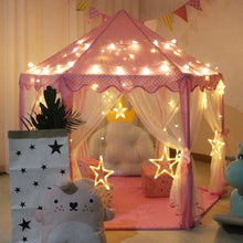 Load image into Gallery viewer, Pink Princess Toy Castle Tent, Portable Folding Indoor/Outdoor