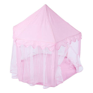 Pink Princess Toy Castle Tent, Portable Folding Indoor/Outdoor