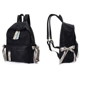 Waterproof Oxford School Backpack: Cute Bow Backpacks with USB Charger