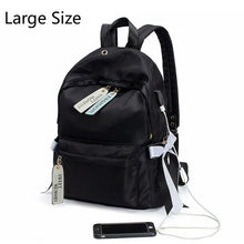 Load image into Gallery viewer, Waterproof Oxford School Backpack: Cute Bow Backpacks with USB Charger
