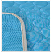 Load image into Gallery viewer, Ice Silk Cooling Mats/Blanket Pet Bed. Sofa Portable, Travel, Yoga, Sleeping Cooler Mat