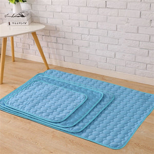 Ice Silk Cooling Mats/Blanket Pet Bed. Sofa Portable, Travel, Yoga, Sleeping Cooler Mat