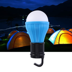 Portable LED Lantern Tent Light Bulb for Camping Hiking Fishing Emergency Battery Powered Light