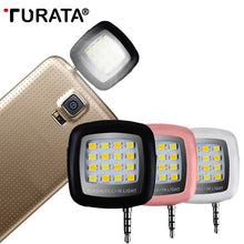 Load image into Gallery viewer, TURATA Mini Smartphone Portable LED Flash Fill Light 16 Lens