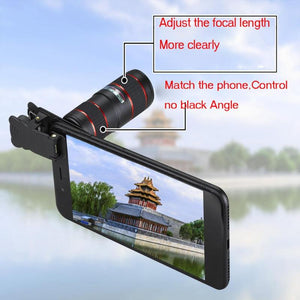 Universal Clip 12X Zoom Cell Phone Optical Telescope Lens Telephoto Lens