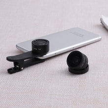 Load image into Gallery viewer, Universal 3-in-1 Cell Phone Fisheye + Wide Angle + Macro Lens Kit