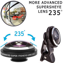 Load image into Gallery viewer, Wide Angle Macro lens Clip 235 degrees Fisheye Lent & Tripod Kit