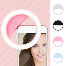 Load image into Gallery viewer, USB Charge Selfie Ring LED Selfie Lamp Ring
