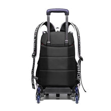 Load image into Gallery viewer, School BackPack on SIX Stair-Climbing Wheels, Waterproof Rolling BackPack