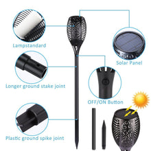 Load image into Gallery viewer, Solar Flickering Torch Flame Lamp, Waterproof Garden / Landscape