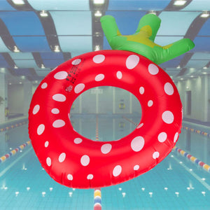 NEW Inflatable Large Strawberry Fruit Swimming Pool Float