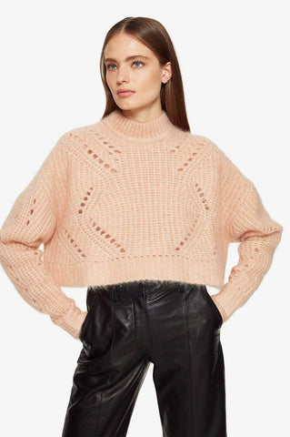 Anine Bing Jordan Sweater - Peach Sweatshirt Anine Bing