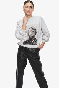 Anine Bing Ramona Sweatshirt AB x TO - Heather Grey Sweatshirt Anine Bing