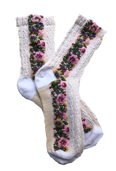 EMM Copenhagen Flora Socks - White/Beige Accessories EMM